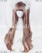 Japan Harajuku Long Straight Curly Lolita Wig for Girls