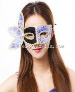 Black/Orange/Yellow/Dark Grey Beautiful Clover Masquerade Masks Venetian Fabric Masks