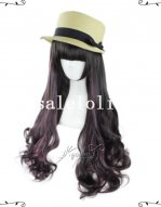 Japan Harajuku Dark Purple Party Girls Curly Wig