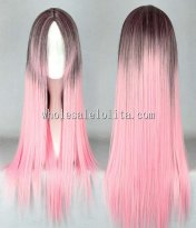 Cosplay Harajuku Japanese Lolita Wig Pink Long Straight Hair