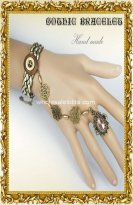 New Gothic Vintage Coffee Golden Bronze Ladies Bracelet & Ring