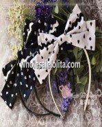 Navy Wind of Poker Series KC Big Bow Lolita Headdress