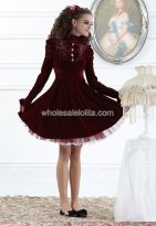 Noble Pleuche Back Drawstring Vintage Palace Princess Dress