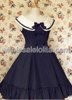Black Long Sleeves Lace Cotton Gothic Lolita Dress