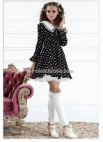 Black and White Dot Sailor Collar School Lolita Dress