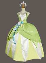 Disney Movie The Princess and the Frog Princess Tiana Ball Gown Party Dress