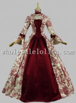 Georgian Victorian Gothic Period Dress Masquerade Ball Gown Reenactment Theatre Costume Pink