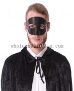 Cosplay and Parties Blank Half Face Masquerade Mask for Men