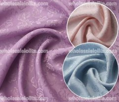 High-End Floral Jacquard Silk Fabric 4 Colors