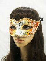 Charming Orange Shinning Masquerade Ball Mask