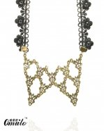 Gothic Black Lace Pendant Necklace for Parties