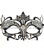 Black Metal Hallowen Masquerade Party Masks with Rhinestones for Adult and Child