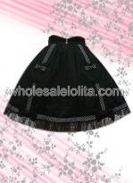 Best Seller Black Sweetheart Sign Cotton Lolita Skirt