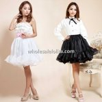 Black/White Organza Puffy Flounced Lolita Petticoat