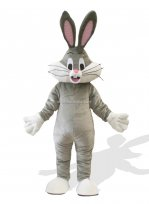 Handsome Adult Bugs Bunny Mascot Costume