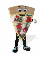 Brown Cheese Pizza Plush Monster And Fantasy Costume