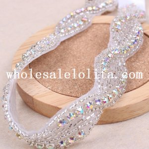 Graceful Glitter Royal White Lace Collar Choker Necklace for Wedding Prom