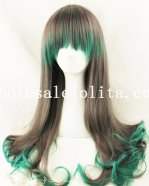 Women's Japan Harajuku Anime Long Mixed Color Wig