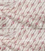 Romantic Rose Cotton Floral Fabric PINK