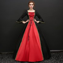 Halloween Gown Dress Baroque Victorian Dress Victorian Women Dress Period Dress Ball Gown