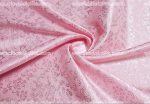 Pink Floral Jacquard Fabric