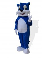 Adult Size Blue Cat Mascot Costume