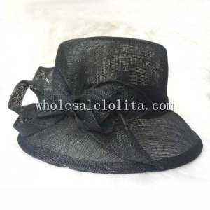 Small Brim Flax Bow British Hat 3 Colors