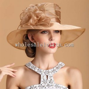 Elegant Ladies Big Brim Flower British Kentucky Derby Hat
