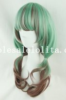 Hotsale Anime Cosplay Long Curly Wig for Girls
