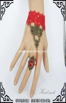 Gothic Red Vintage Bronze DIY Bracelet & Ring
