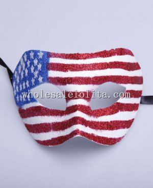 Cool Style Party Masquerade National Flag Masks for Adult and Child