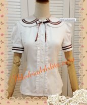 Vintage Sailor Collar British School Lolita Blouse