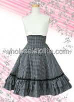Checked Multilayers Cotton Lolita Skirt