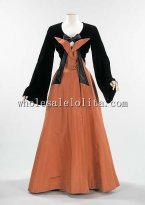 Elegant Two Pieces 1940s American Culture Silk Evening Dress