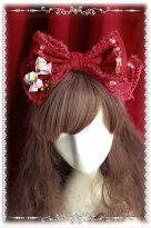Wine Red Snow White Big Lolita HeadBow