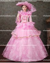 Classic 18th Century Marie Antoinette Inspired Dress Wedding Masquerade Gown Reenactment PINK