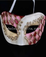 Venetian Masquerade Mask with Mosaic Detail for Men