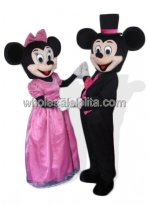 Pretty Female Mickey Mouse and Minnie Mouse Costume
