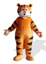 Tiger With White Claw Plush Adult Mascot Costume