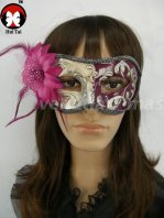 Violet Feather Costume Party Mask