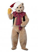 Adult Bear Christmas Mascot Costume