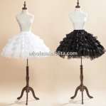 Black/White Cute Bows Organza Layered Skirt/Lolita Petticoat
