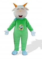 Green Electric Power Adult Goat Costume