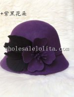 Vintage British Wool Flower & Feather Women's Cloche Hat
