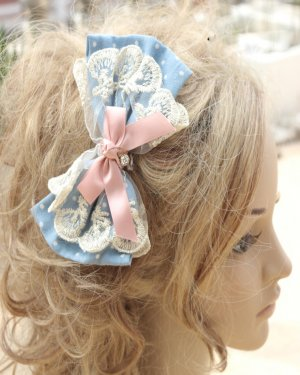 Sweet Lace Bow Lolita Hair Clips Hairpin