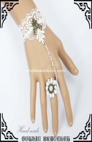 Popular Bride & Bridemate White Lace Bracelet & Ring