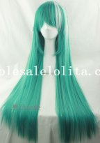 Hotsale Mix-colored Cosplay Anime Heat Resistant Long Straight Hair Wig