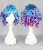 Japanese harajuku lolita wigs color mixing short curly hair