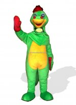Open Face Plush Dragon Mascot Costume for Adult