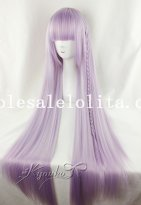 Charm Cosplay Long Straight Purple Hair Wig